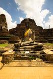 Buda de Ayutthaya, Buddha Ayutthaya obraz royalty free