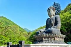 Buda de bronce del templo de Sinheungsa Imagen de archivo