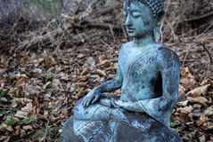 Buda de bronce en el bosque Fotografía de archivo libre de regalías