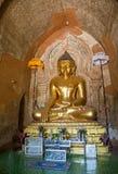 Buda de Htilomillio, Bagan, Myanmar imagem de stock
