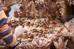 Buda de madera imagenes de archivo