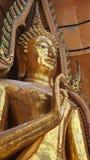 Buda de oro en la meditación Fotografía de archivo libre de regalías