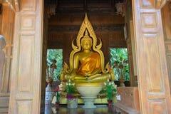 Buda de oro hermoso Imagen de archivo libre de regalías