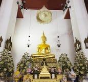 Buda de oro, Wat Pho, Bangkok, Tailandia Foto de archivo libre de regalías
