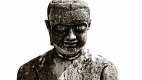 Buda de piedra áspero hace frente Imagenes de archivo