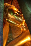Buda de reclinação (Buda) do sono Wat Pho Temple em Banguecoque Tailândia Imagens de Stock Royalty Free
