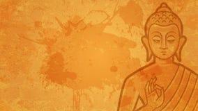A Buda do fundo medita Imagens de Stock Royalty Free
