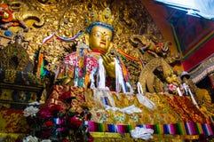 Buda dourada em Tibet Fotografia de Stock Royalty Free