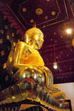 Buda dourada Staute de Phitsanulok Foto de Stock Royalty Free
