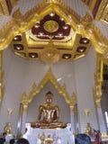 Buda dourada, Wat Pho Temple, Banguecoque Fotografia de Stock Royalty Free