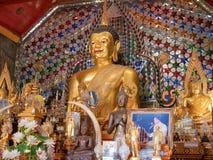 Buda em Chiang Mai, templo de Doi Sutep fotografia de stock