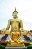 Buda em um templo tailandês Imagens de Stock Royalty Free