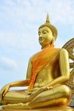 Buda em um templo tailandês Imagem de Stock