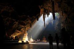 Buda em uma caverna Fotos de Stock Royalty Free