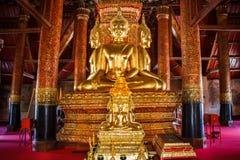 Buda em Wat PhuminPhumin Temple, Tailândia O templo está aberto ao público Um templo construiu mais de 300 anos de herança tailan Fotos de Stock Royalty Free