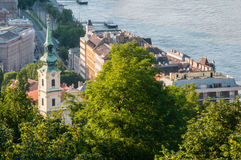 Buda Embankment, Budapest, Hungary Royalty Free Stock Photography