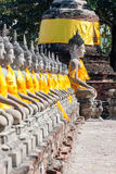 Buda en el adornamiento del día de fiesta bangkok Imagen de archivo libre de regalías