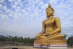Buda en el cielo azul Imagen de archivo