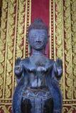 Buda en el templo Laos Foto de archivo libre de regalías