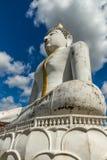 Buda en fondo azul Imagenes de archivo