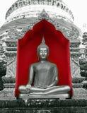 Buda en rojo Fotografía de archivo