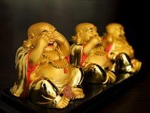 Buda expresa emociones Imagen de archivo libre de regalías
