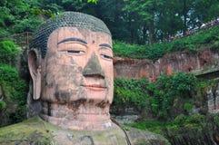 Buda gigante de Leshan, Sichuan, China Fotos de Stock Royalty Free
