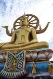 Buda grande de oro en Wat Phra Yai Thai Temple en Samui, Th de Surat Fotografía de archivo libre de regalías