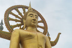 Buda grande en Koh Samui Imágenes de archivo libres de regalías