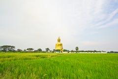 Buda grande en Wat Mung, Tailandia Foto de archivo libre de regalías