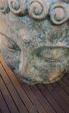 Buda hace frente cerca para arriba en fondo de madera fotos de archivo libres de regalías