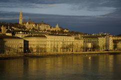 Buda hill with Fishermen's Bastion, Budapest Royalty Free Stock Photo