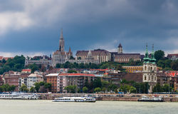 Buda i Matthias Kościół. Budapest Zdjęcia Stock