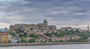 Buda kasztel pałac królewski w Budapest obrazy royalty free