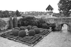 Buda kasztelu ogród Obraz Royalty Free