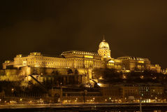 Buda lock in the night Royalty Free Stock Image