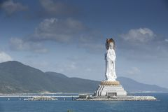 Buda, mar do Sul da China, Sanya, Hainan imagem de stock royalty free