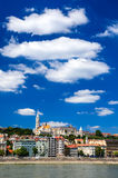Buda and Matthias Church. Old city of Budapest, Hungary. stock photos