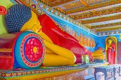Buda na posição do nirvana fotografia de stock