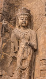 Buda na rocha Imagem de Stock Royalty Free