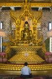 Buda - pagode de Botatung - Yangon - Myanmar Imagem de Stock Royalty Free
