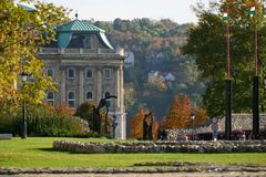 Buda palace. Gate of Buda palace, Budapest, Hungary, Central Europe royalty free stock images