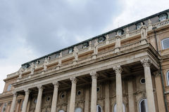 Buda palace western forecourt terrace statues Stock Images
