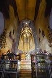 Buda permanente Kassapa en el templo de Ananda adornó en Bagan, Myanmar Imagen de archivo libre de regalías