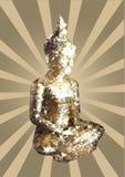 Buda poligonal dourada ilustração stock