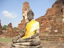 Buda que se sienta en Ayutthaya Foto de archivo