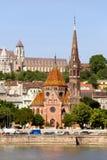 Buda reformou a igreja em Budapest Foto de Stock Royalty Free