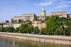 Buda Schloss in Budapest Stockfotografie