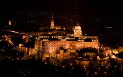 Buda Schloss vom Citadelle Stockfotografie
