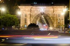 Buda-Schlosstunnel in Budapest Stockfotografie